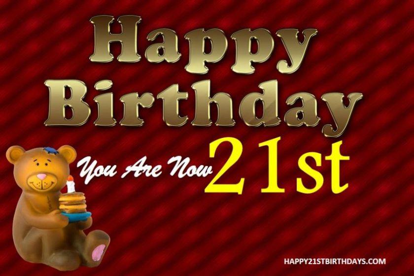 21st Birthday Letter