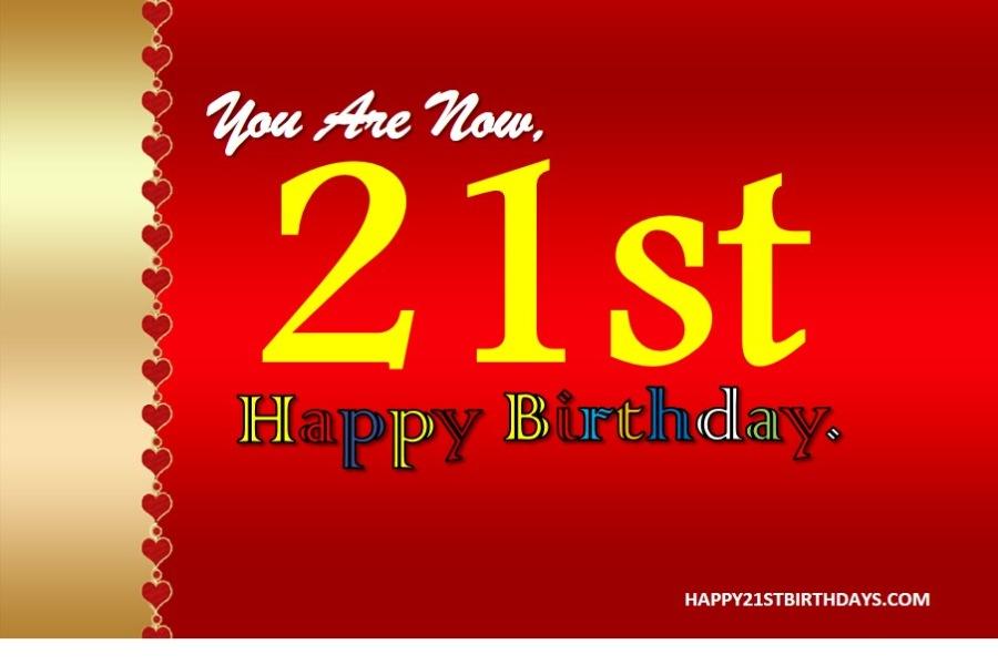 Happy 21st Birthday Letters