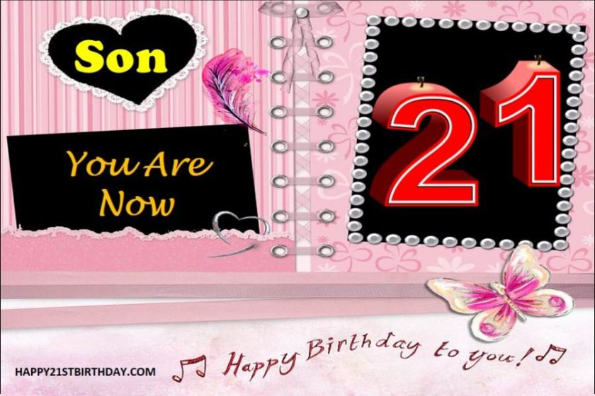 21st Birthday Wishes for Son from Mother